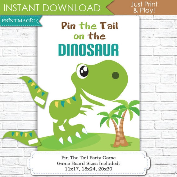 Pin the tail on the dinosaur template choice image for Pin the tail on the dinosaur template