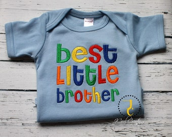 Little Brother Shirt - Coordinating Sibling Outfits, Brother Sister, Big Brother Little Brother Set, Big Sister Little Brother, Newborn Boy