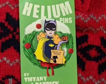 Batgirl | Batman Pin Halloween Enamel Pin | Future is Female | Feminist Enamel Pin | horror enamel pin | Catwoman | Harley Quinn