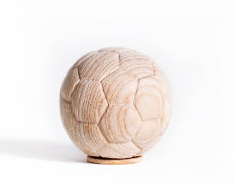 Minature Wooden Football Ashes Urn