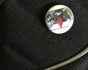 Bucky Barnes // Winter Soldier // Captain America // pin // marvel button // the winter soldier star