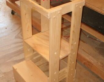 Learning tower, adjustable tot tower, kitchen helper, step stool, adjustable step stool