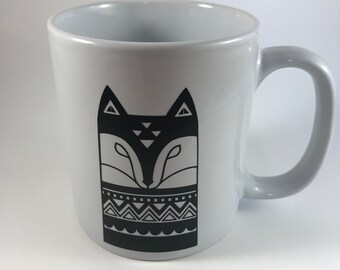 Coffee mug, Fox Coffee Mug, Housewarming Gift, Ceramic Mug, Coffee/Tea/Mug, Teacher Gift, Office Gift, Scandinavian