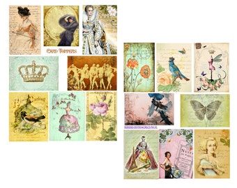 Card Toppers Digital Collage Set