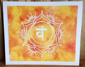 Sacral Chakra Watercolour Art ~ Wall Art Meditation Spiritual Art Print