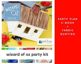 Wizard of Oz Party Kit: Wizard of Oz Party Plan + Wizard of Oz Bunting + Wizard of Oz Party + Wizard of Oz Party Decor