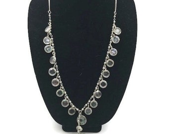 Vera Wang Extra Long Glam Beaded Multi Faceted AB Stone Necklace