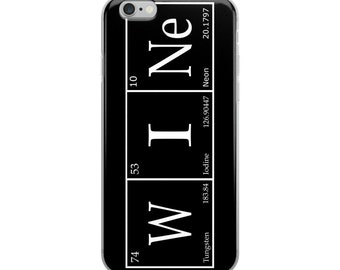 Wine - iPhone Case - Periodic Table - iPhone 6, iPhone 7, iPhone 8, iPhone X