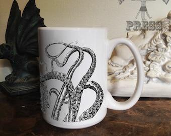 Tentacles Mug, 15 oz Coffee Mug