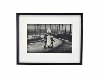 1969 Jan Saudek L/E Gelatin Silver Print Destiny Walks Towards the River