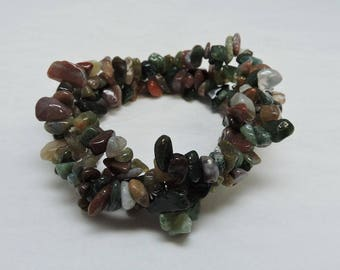 Gemstone Tri Twist Bracelet