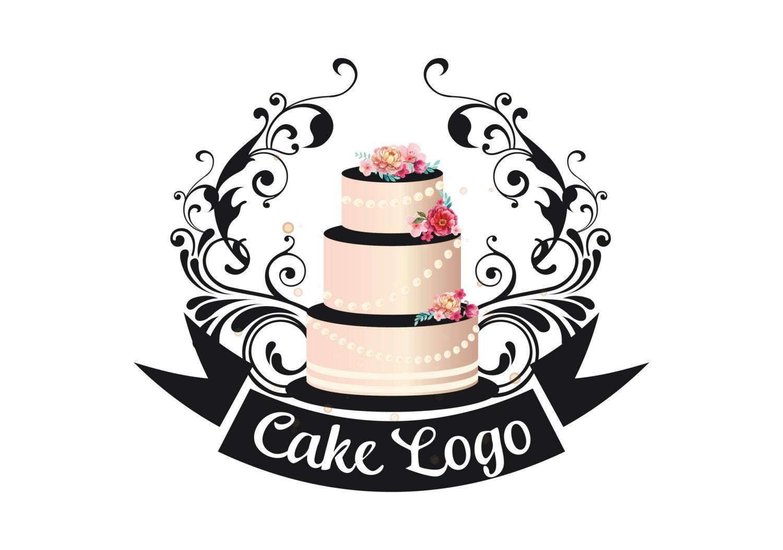 premade cake logo custom logo design bakery logo sweets