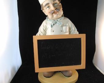 Chef/Cook menu chalk board holder