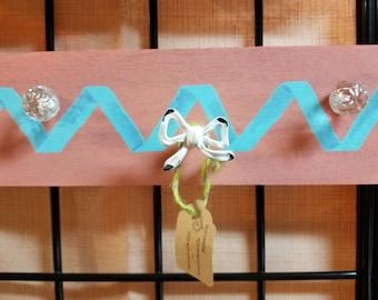 Handpainted ribbon jewelry hanger
