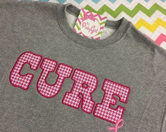 """YOUTH - """"CURE"""" Breast Cancer Sweatshirt 