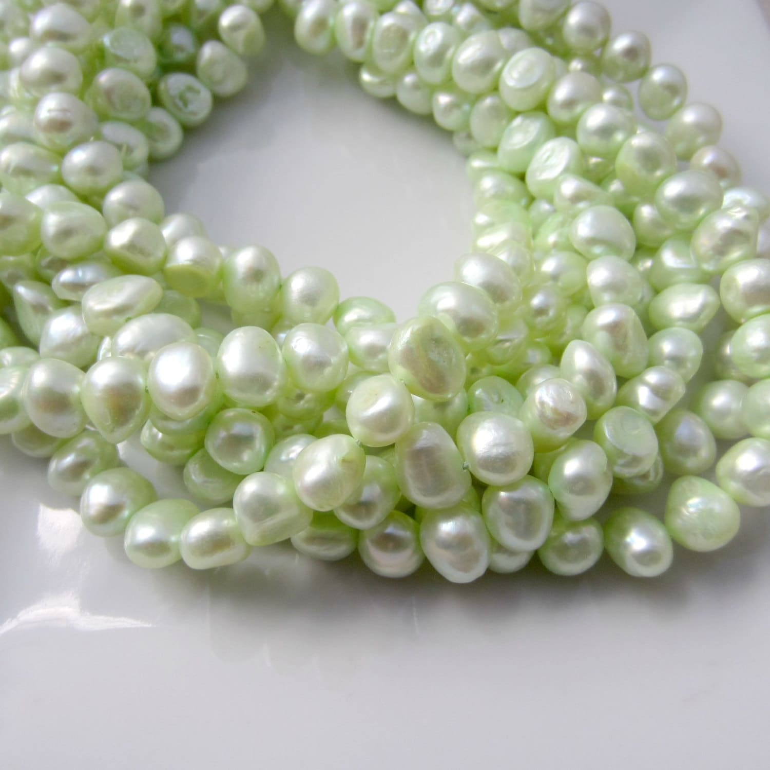 zoom fullxfull nugget pearls freshwater green real il light listing