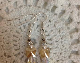 Swarovski Angel Earrings