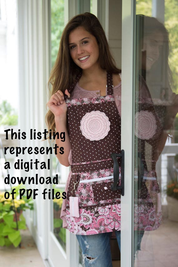 Apron Pattern PDF - Women\'s Full and Half - Apron Pattern - Vendor ...
