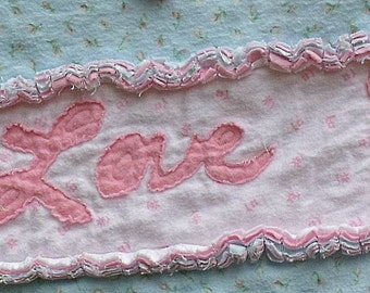 Personalization for a Baby Blanket or Quilt