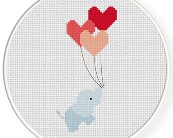 Hearts Away PDF Cross Stitch Pattern Needlecraft - Instant Download - Modern Chart