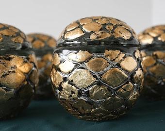 Gold Glass Globe Bottle