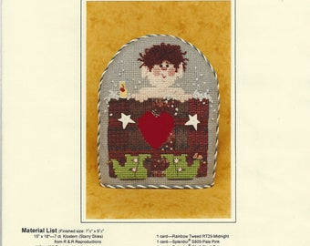 """Clearance - """"Soakin' Saturday Night"""" Counted Cross Stitch Chart by Mosey 'n Me"""