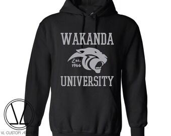 Wakanda University Hoodie (Grey Writing)