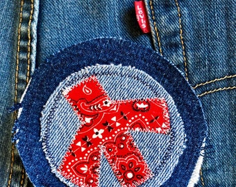 Peace sign patch, denim patch, jean patch, jacket patch, patched denim, denim patchwork, jeans patch, denim patches, patchwork, patch, art