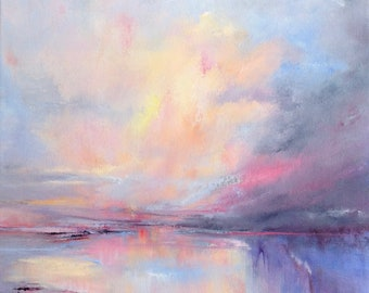 Abstract seascape painting 'Cloud Shift'