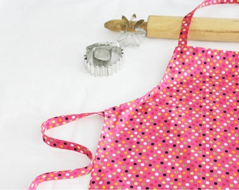 Pink and Orange Dots Child Apron