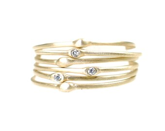 Stacking Rings, Stacking Gold Rings, Stacking Silver Rings, Organic Ring, Organic Stacking Ring, Delicate Ring, Seed Rings, Gold Ring, Nixi