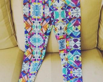 Rainbow Lycra Yoga Pants