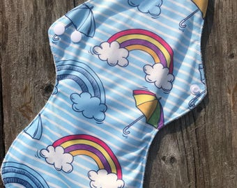 April Showers Rainbow Heavy Flow Cloth Pad