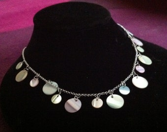 Bridal Jewelry SALE Shell Necklace Chain,Mother of Pearl Chain Necklace,Shell Choker Necklace
