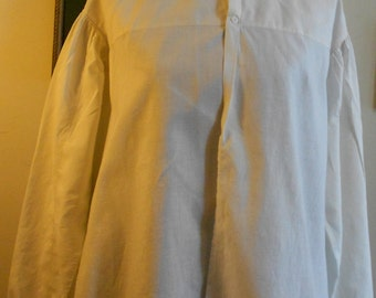 """1860's, 38""""bust, white linen bed jacket."""
