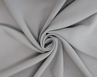 Silver Stretch Crepe Fabric - 1 Yard Style 482