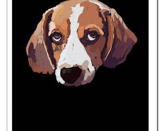 Beagle Dog Illustration-Pop Art Print
