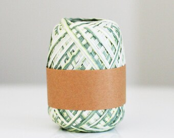 Clearance Green Ombre raffia twine ribbon 100 yards