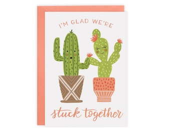 Stuck Together (Cactus) Card
