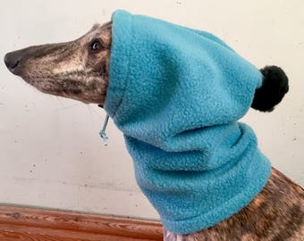 Whippet pom pom hat / dog snood