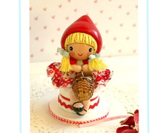 Little Red Riding Hood Birthday Decorations, Little Red Riding Hood Birthday Supplies, Red Riding Hood Cake Topper,Red Riding Hood Toddler