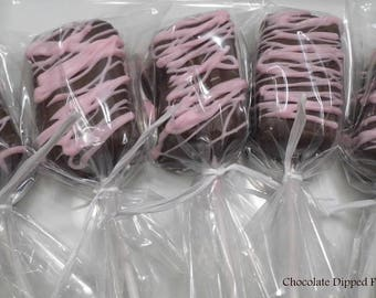 MILK Chocolate Dipped Fudge Pops - FREE SHIPPING