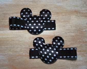 Mickey Mouse Black Dot Hair Clips - Buy 3 Items, Get 1 Free