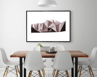 Mountain Landscape Graphic Wall Art