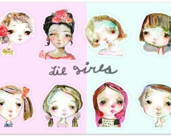 Lil Girls - sticker sheet
