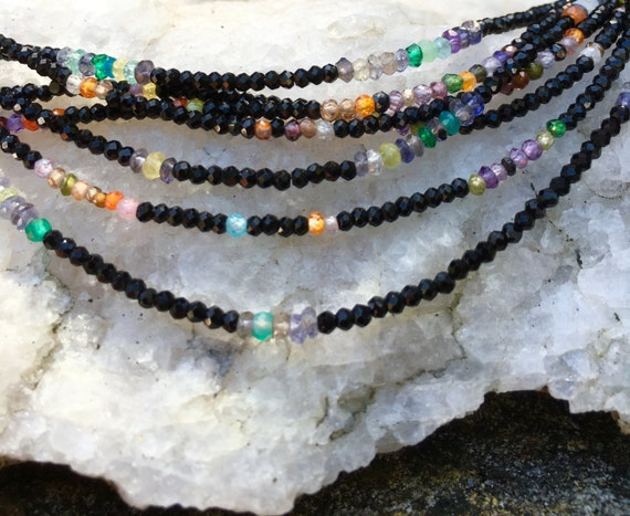 Black Spinel & Mixed Gemstones