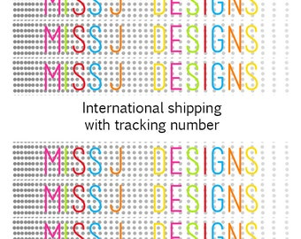 International shipping option with tracking number. Top Up Feature.