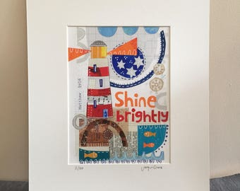 Shine Brightly. A limited edition giclee print