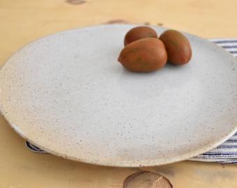 Ceramic Plates SET of 6, SIX Rustic Plates, Dinner Set, Large Dinner Plates, Pottery Stoneware plates, Ceramic / Pottery Wedding Gift
