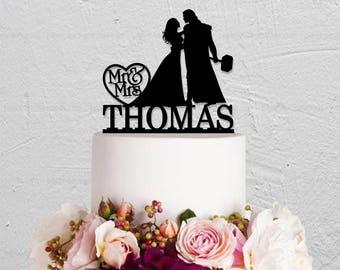 Wedding Cake Topper,Thor Cake Topper,Custom Cake Topper,Hero Cake Topper,Mr And Mrs Cake Topper,Couple Cake Topper,Last Name Cake Topper